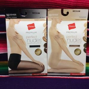 BUNDLE OF 2 HANES WOMEN'S TOMMY CONTROL PANTYHOSE